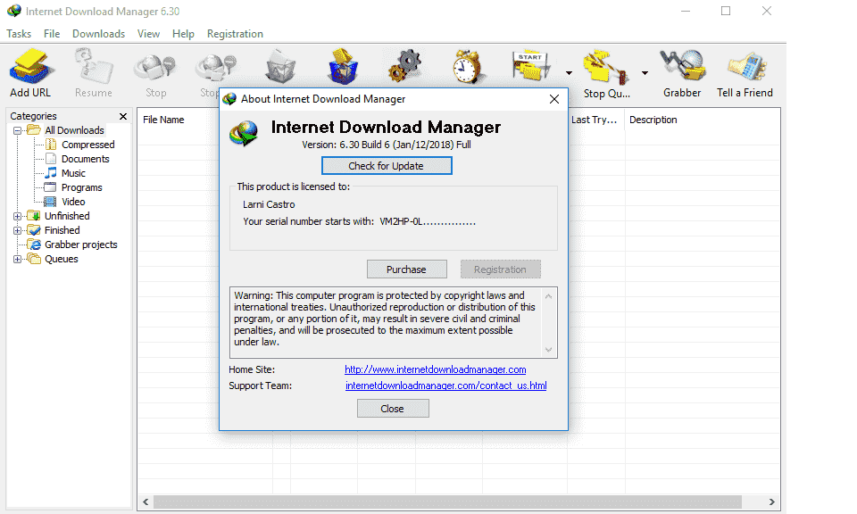 Internet Download Manager 6.32 Key Build 6 Free