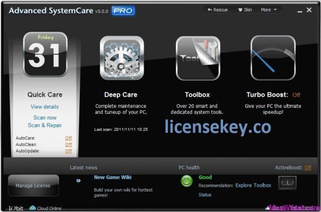 Advanced SystemCare Pro 11.5.0.270 Crack + Keygen Free Download 2020
