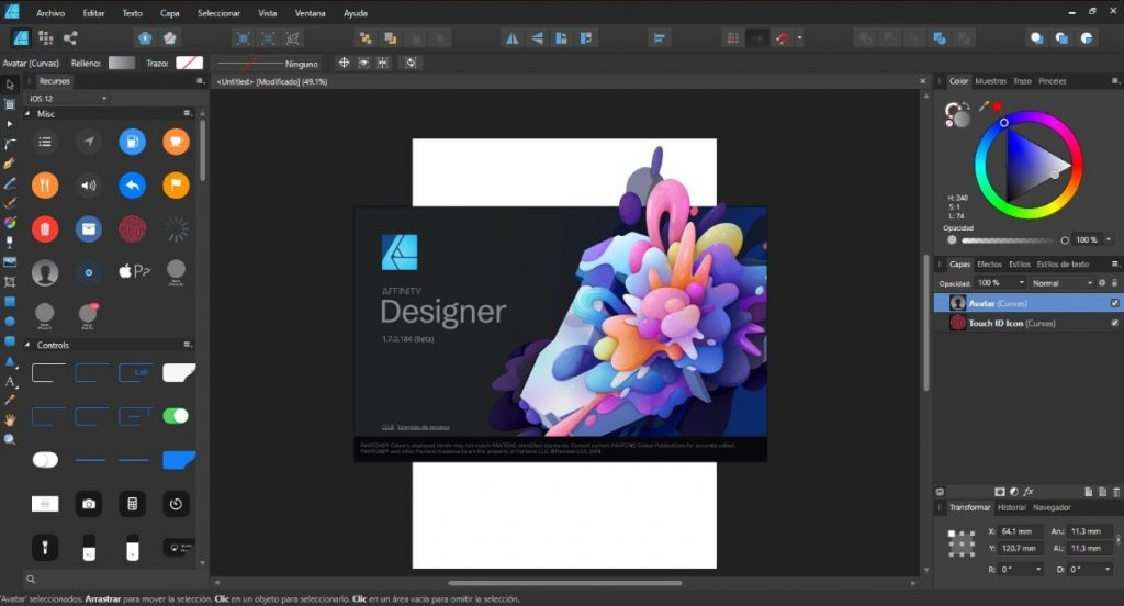 Serif Affinity Designer 1.8.1.595 Beta Serial Key + Crack Free 2020